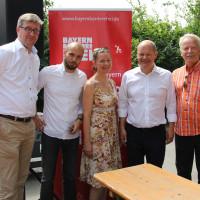 Der geschäfsführende Vorstand des Ortsvereins Bogenhausen-Oberföhring mit Ola Scholz